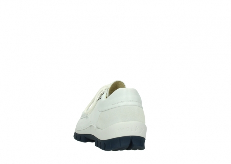 wolky lace up shoes 04701 fly 70108 white leather blue sole_6