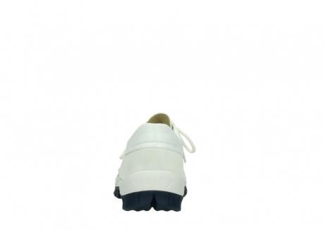 wolky lace up shoes 04701 fly 70108 white leather blue sole_7