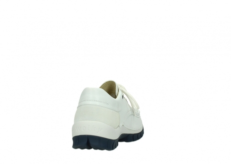 wolky lace up shoes 04701 fly 70108 white leather blue sole_8
