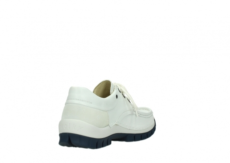 wolky lace up shoes 04701 fly 70108 white leather blue sole_9