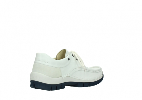 wolky lace up shoes 04701 fly 70108 white leather blue sole_10