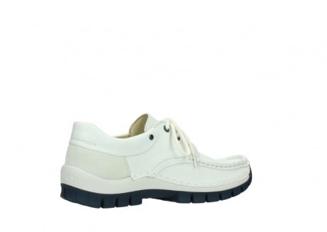 wolky lace up shoes 04701 fly 70108 white leather blue sole_11