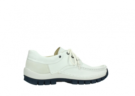 wolky lace up shoes 04701 fly 70108 white leather blue sole_12