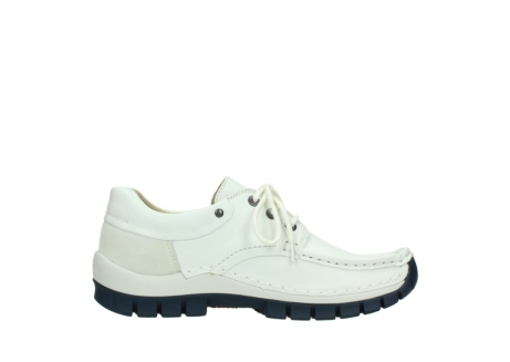 wolky lace up shoes 04701 fly 70108 white leather blue sole_13