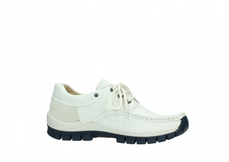 wolky lace up shoes 04701 fly 70108 white leather blue sole_14