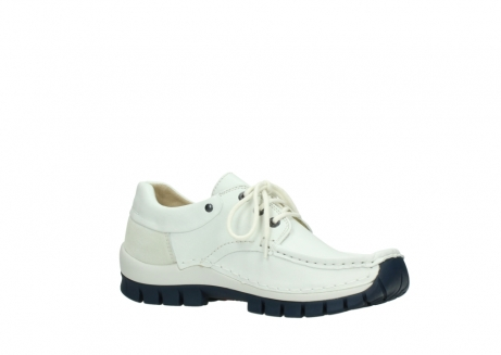 wolky lace up shoes 04701 fly 70108 white leather blue sole_15