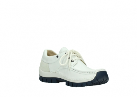 wolky lace up shoes 04701 fly 70108 white leather blue sole_16