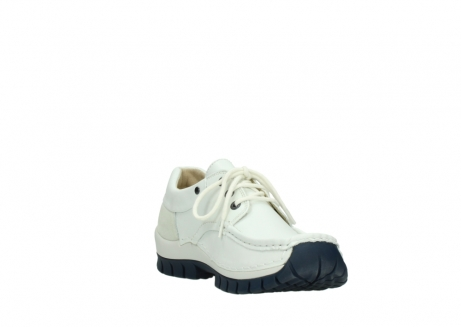 wolky lace up shoes 04701 fly 70108 white leather blue sole_17