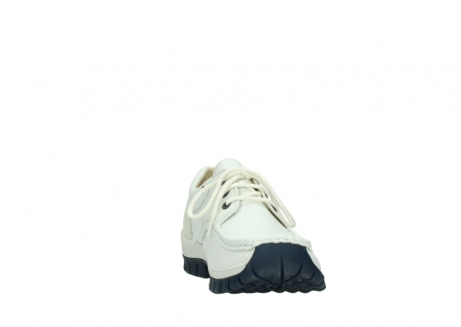 wolky lace up shoes 04701 fly 70108 white leather blue sole_18