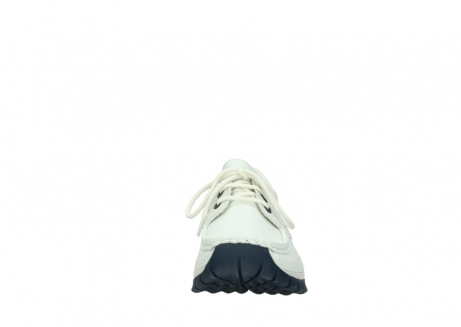 wolky lace up shoes 04701 fly 70108 white leather blue sole_19