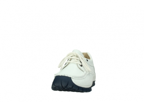 wolky lace up shoes 04701 fly 70108 white leather blue sole_20