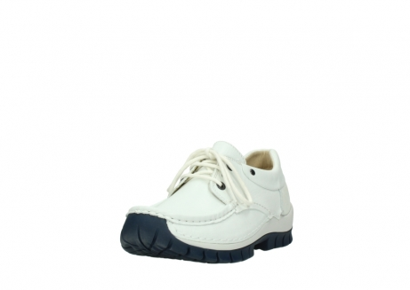 wolky lace up shoes 04701 fly 70108 white leather blue sole_21