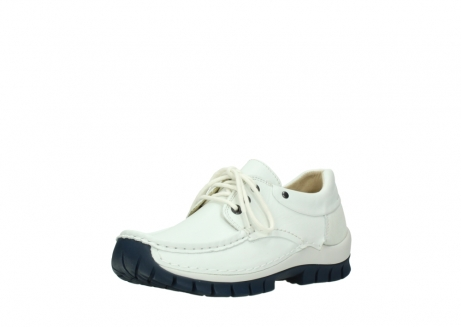 wolky lace up shoes 04701 fly 70108 white leather blue sole_22