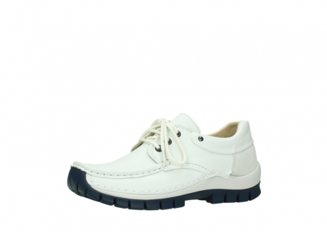 wolky lace up shoes 04701 fly 70108 white leather blue sole_23