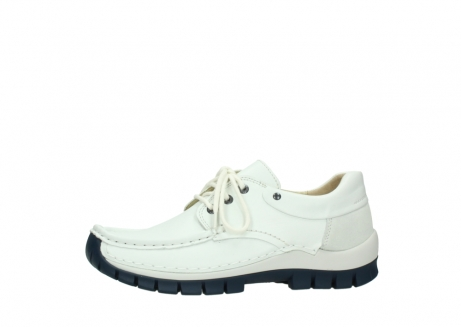 wolky lace up shoes 04701 fly 70108 white leather blue sole_24