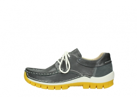 wolky lace up shoes 04701 fly 70209 grey leather yellow sole_1