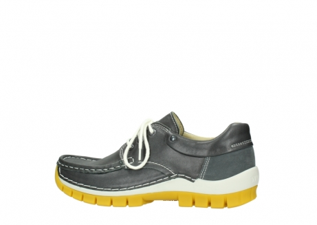 wolky lace up shoes 04701 fly 70209 grey leather yellow sole_2