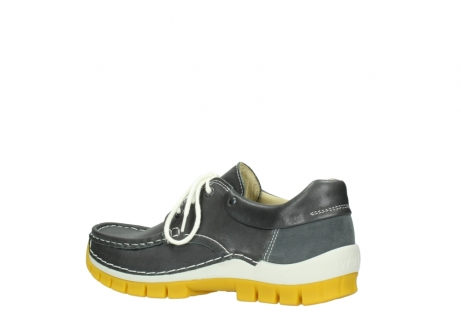 wolky lace up shoes 04701 fly 70209 grey leather yellow sole_3