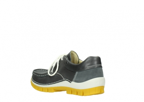 wolky lace up shoes 04701 fly 70209 grey leather yellow sole_4
