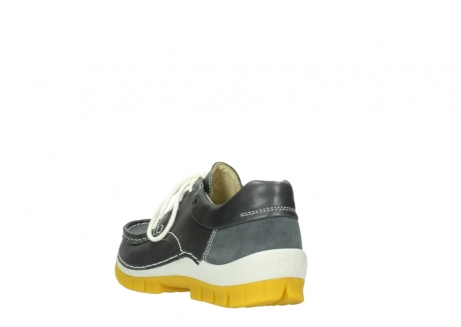 wolky lace up shoes 04701 fly 70209 grey leather yellow sole_5