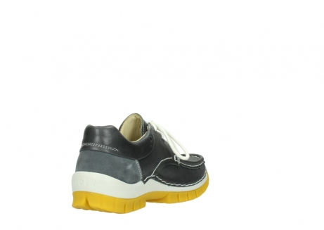 wolky lace up shoes 04701 fly 70209 grey leather yellow sole_9