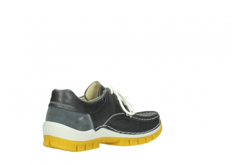 wolky lace up shoes 04701 fly 70209 grey leather yellow sole_10