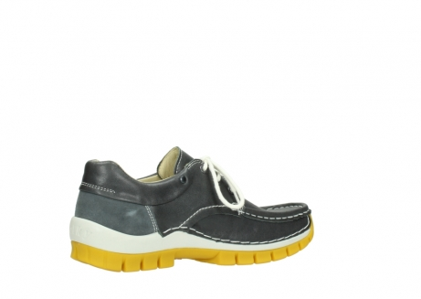 wolky lace up shoes 04701 fly 70209 grey leather yellow sole_11