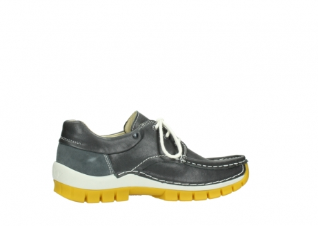 wolky lace up shoes 04701 fly 70209 grey leather yellow sole_12