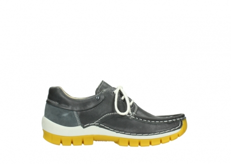 wolky lace up shoes 04701 fly 70209 grey leather yellow sole_13