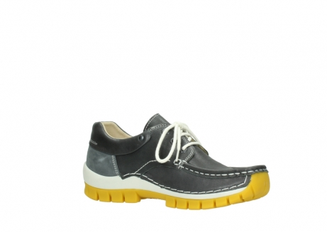 wolky lace up shoes 04701 fly 70209 grey leather yellow sole_15