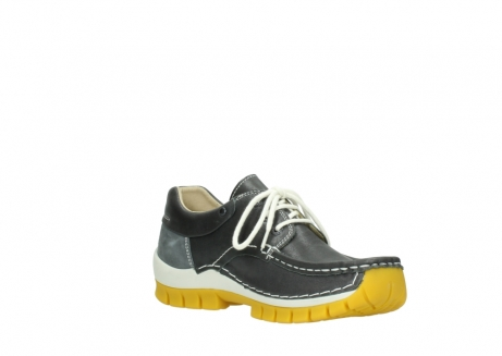 wolky lace up shoes 04701 fly 70209 grey leather yellow sole_16