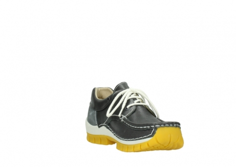 wolky lace up shoes 04701 fly 70209 grey leather yellow sole_17