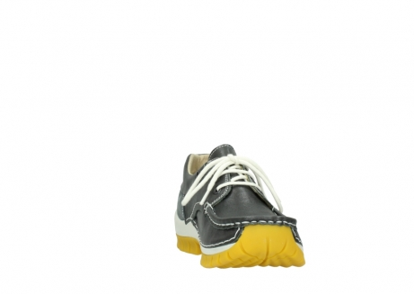 wolky lace up shoes 04701 fly 70209 grey leather yellow sole_18