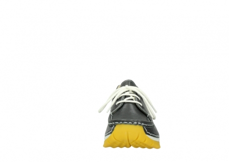 wolky lace up shoes 04701 fly 70209 grey leather yellow sole_19