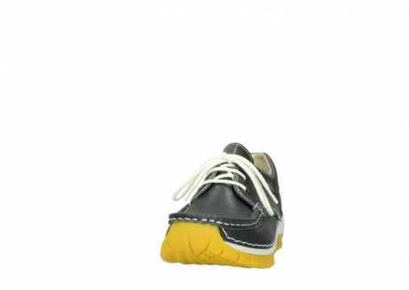 wolky lace up shoes 04701 fly 70209 grey leather yellow sole_20