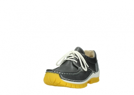 wolky lace up shoes 04701 fly 70209 grey leather yellow sole_21