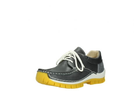 wolky lace up shoes 04701 fly 70209 grey leather yellow sole_22