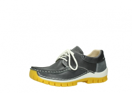 wolky lace up shoes 04701 fly 70209 grey leather yellow sole_23