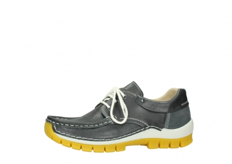 wolky lace up shoes 04701 fly 70209 grey leather yellow sole_24