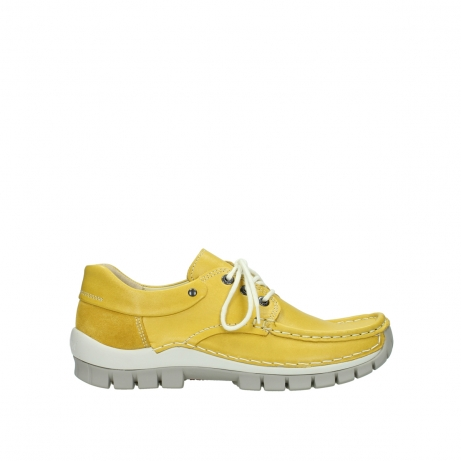 wolky lace up shoes 04701 fly 70900 yellow leather