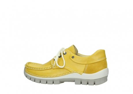 wolky chaussures a lacets 04701 fly 70900 cuir jaune_2