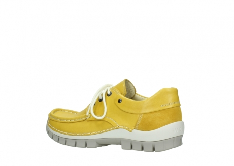 wolky chaussures a lacets 04701 fly 70900 cuir jaune_3