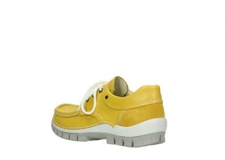 wolky chaussures a lacets 04701 fly 70900 cuir jaune_4