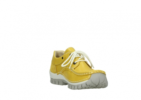 wolky chaussures a lacets 04701 fly 70900 cuir jaune_17