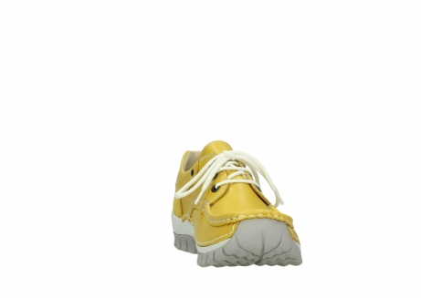 wolky chaussures a lacets 04701 fly 70900 cuir jaune_18