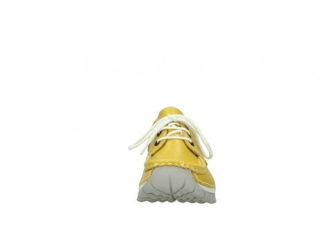 wolky chaussures a lacets 04701 fly 70900 cuir jaune_19