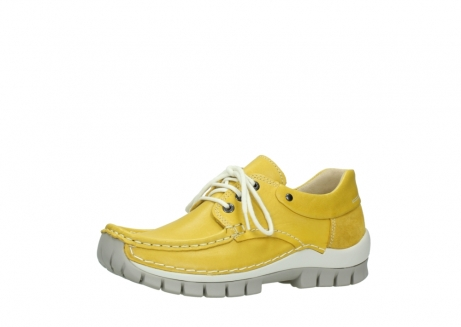 wolky chaussures a lacets 04701 fly 70900 cuir jaune_23