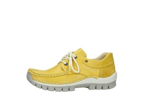 wolky chaussures a lacets 04701 fly 70900 cuir jaune_24