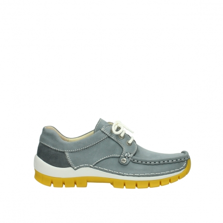 wolky lace up shoes 04708 seamy fly 10209 grey nubuck yellow sole