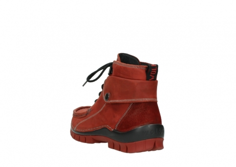 wolky bottines a lacets 04725 jump winter 50540 cuir rouge hiver_5